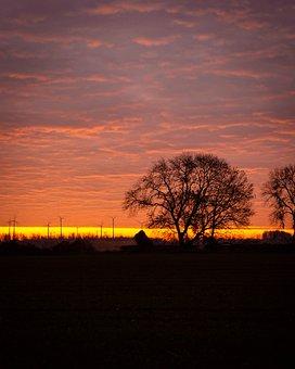 Sunrise, Early Morning, Morning, Landscape