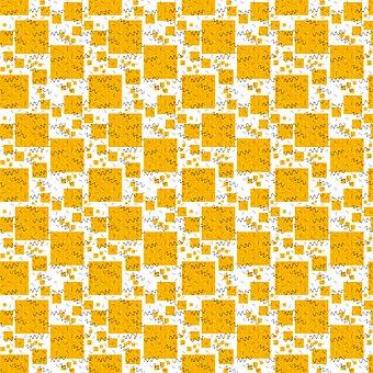 Pattern, Seamless, Yellow, Square, Scrapbook