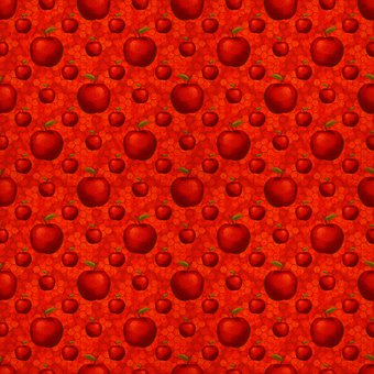 Apples, Red Apple, Pattern, Seamless, Christmas