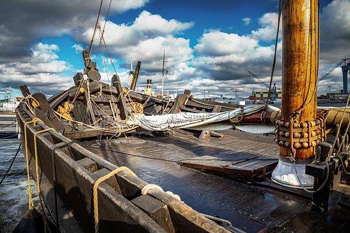 Kiel, Ostsee, Water, Shipping, Sea, Kogge, Ship, Boat