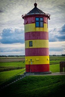 Lighthouse, East Frisia, North Sea, Wadden Sea