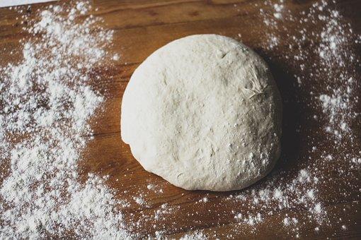 Dough, Flour, Wooden Table, Yeast, Bread Dough, Bread