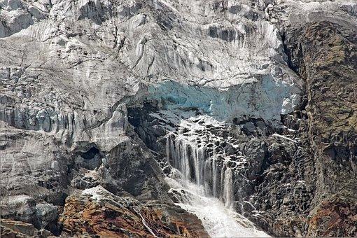 Mountain, Glacier, Alps, Ice, Collapse