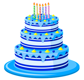 Birthday Cake, Candles, Pastry, Cake, Dessert, Food