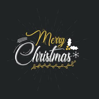 Christmas, Greeting, Typography, Merry Christmas