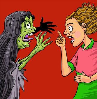 Woman, Ghost, Devil, Demon, Anger, Fear, Horror, Evil