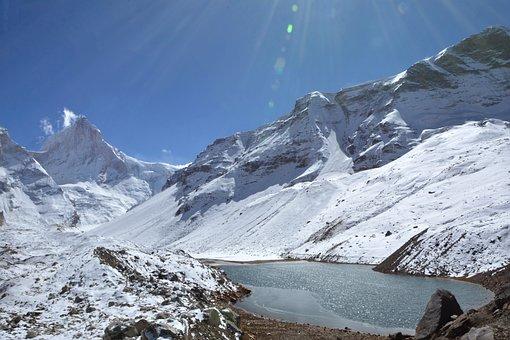 Kedar Taal, Mt, Thalaysagar, Peak, Gangotri, Himalaya