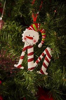 M, Ornament, Christmas, Christmas Tree, Snowman