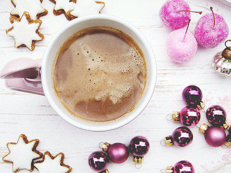 Cup, Drink, Hot Chocolate, Star, Cookies