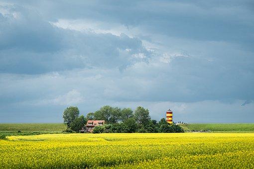 Pilsum, Lighthouse, North Sea, East Frisia, Greetsiel