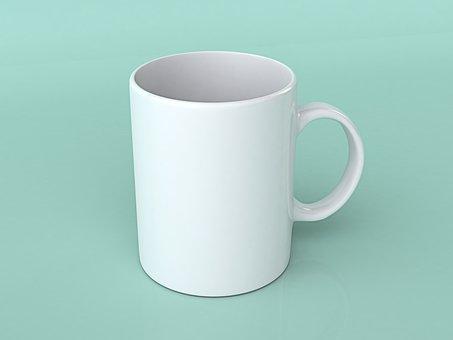 White Mug, Mug, Glass, White, Cup, Tea, Cafe, Drink