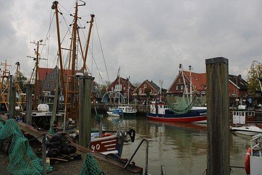 North Sea, Wadden Sea, Shrimp, Neuharlingersiel, Port