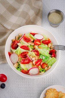 Salad, Lettuce, Raddish, Tomato, Organic, Healthy