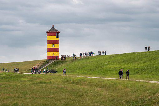 Pilsum, Lighthouse, East Frisia, North Sea