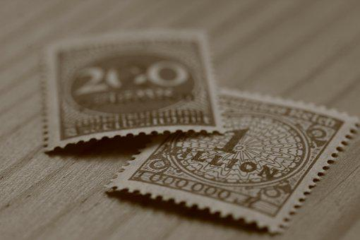 Inflation, Postage Stamps, Germany, Reichsmark