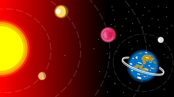 Solar System, Sun, Space, Planet, Solar, Earth, Moon