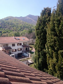 Roof, Houses, Mountain, Tiled Roof, Village, Buildings