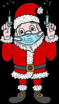 Santa Claus, Santa Doctor, Doctor, Christmas, Sick
