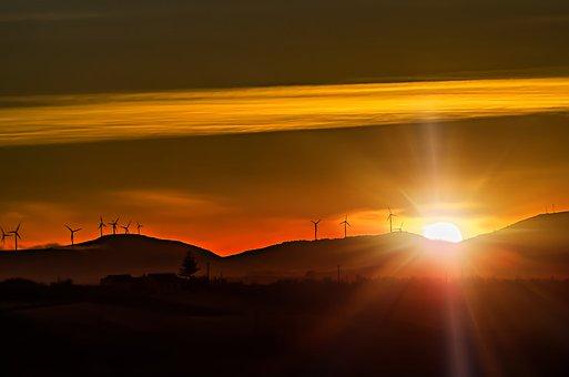 Sunrise, Orange, Sunset, Sun, Sky, Clouds, Morning