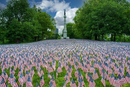 Mohan, Nannapaneni, American, Flags, Memorial Day