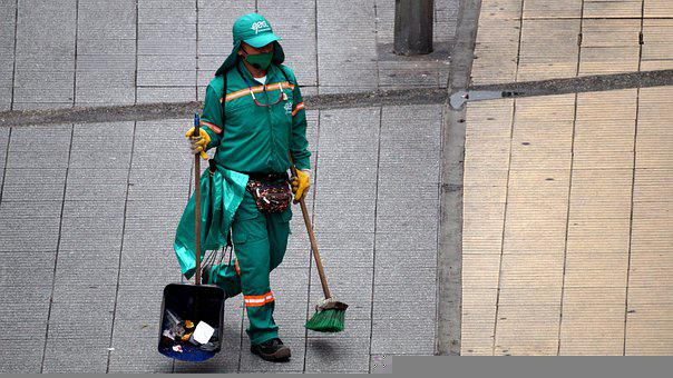 Person, Man, Work, Toilet, Street Cleaner, Colombia