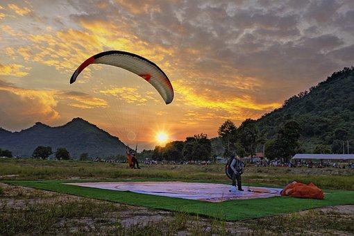 Paragliding, Sky, Parachute, Sport, Paraglider, Fly