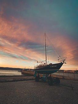 Sports Pier, Promenade, Spring, Boats, Sky, Leisure
