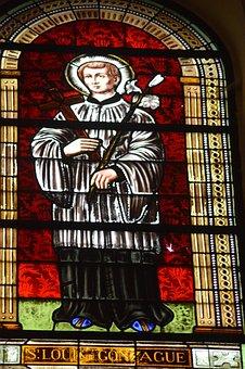 Stained Glass, Window, Church, Saint, Man