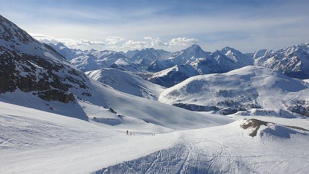 Snow, Lanscape, Mountain, Alpes D'huez
