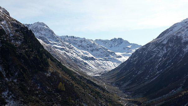 Mountains, Snow, Flüela Pass, Alps, Alpine