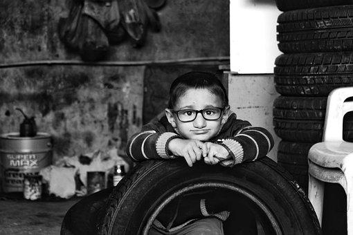 Child, Eyeglasses, Portrait, Boy, Male, Young, Kid