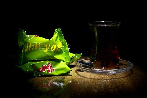 Tea, Tee, Glass, Green, Cake