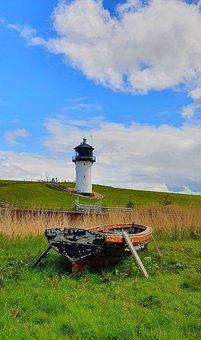 Big Berta, Lighthouse, Boat, Landscape, Blue Sky