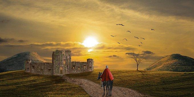 Medieval, Knight, Castle, Ruins, Medieval Castle