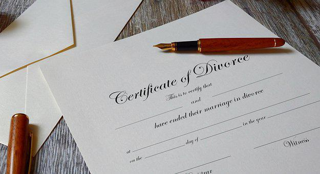 Divorce, Certificate, Pen, Papers, Document, Agreement
