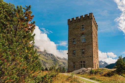 Mountains, Ruin, Architecture, Old Building, Historic