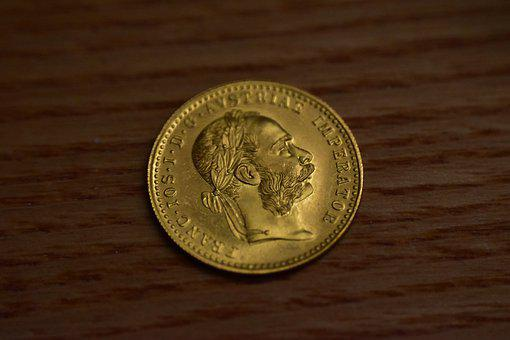 Gold Ducat, Austrian Gold, Coin, Ducat, Gold, Wealth