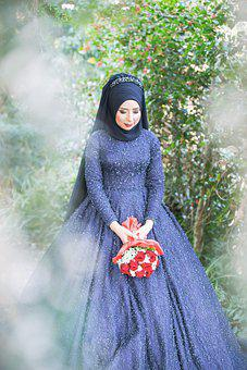 Hijab, Bride, Wedding, Traditional Clothing, Woman