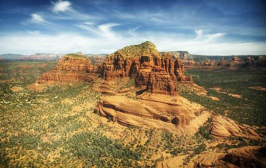 Arizona, Sedona, Mountains, Buttes, Formations