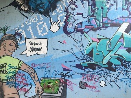 Colorful, Comic, Graffiti, Street Art, Sprayer, Art