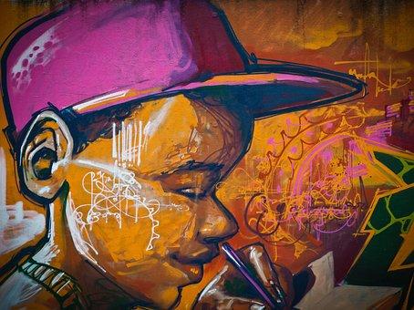 Wall Painting, Graffiti, Sprayer, Art, Hauswand