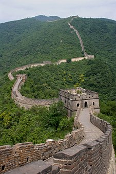 Big Wall, China, Wall, Line, Brick, Brickwall, Border
