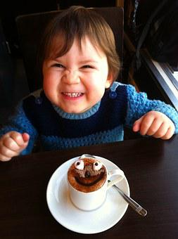 Toddler, Cute, Kid, Cafe, Hot Chocolate, Fun Food