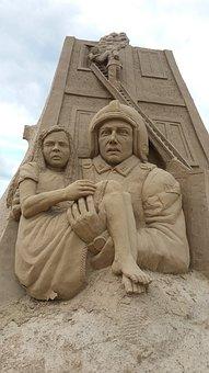 Sand Sculpture, Fire Fighter, Marvel