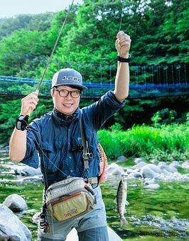 Fly Fishing, Gangwon Do, Fishing, Republic Of Korea