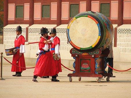 Gyeongbokgung, Palace, South, Seoul, Korea, Historical
