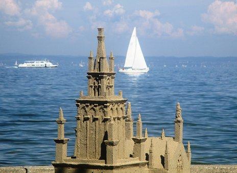 Sandburg, Lake Constance, Sand Sculpture, Rohrschach