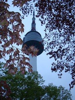 Seoul Namsan Tower, South Korea, Seoul, Park, Landmark