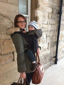 Travel, Babywearing, Mother, Baby