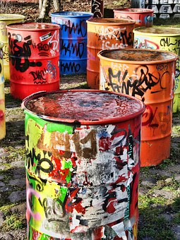 Tons, Colorful, Container, Painting, Art, Sprayer